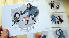 Game of Thrones Teams  / Set of 10 par annamariajung sur Etsy