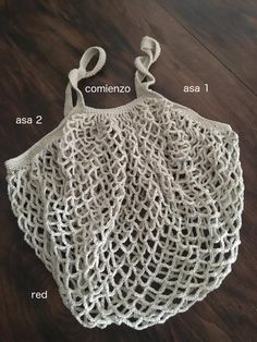 Patrón bolsa red de ganchillo - Costurea Blog Crochet Home, Love Crochet, Crochet Crafts, Knit Crochet, Outlander Knitting, Crochet Market Bag, A Hook, Crotchet, Diy And Crafts
