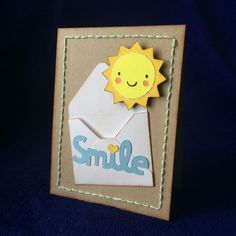 Sunny smile - Scrapbook.com - Love the sweet die cutting and stitching.