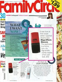 """It was love at first swipe"" Check out #MegaEffects mascara on the pages of Family Circle Magazine July 2013 issue"