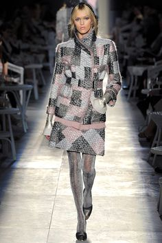 Loving the upcoming Fall tweed trend.. Chanel Fall 2012  Vogue.com