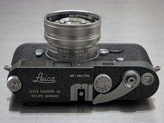 Leica MP LHSA 1968-2003 Hammertone, MS-Optical Sonnetar 50mm F/1.1 Silver | by duncanwong