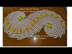 Passo a passa do Tapete Espiral c/ Flores/ Simone Cavagnoli/ Simone artes em crochê. - YouTube