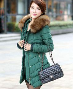 Zicac Women s Thicken Fleece Faux Fur Warm Winter Coat Hood Parka