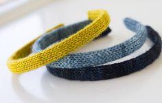 knit headbands pattern - great way to use up stash yarn