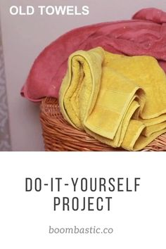 Teen Girl Crafts, Diy Crafts For Adults, Diy Crafts For Home Decor, Easy Diy Crafts, Diy Crafts To Sell, Diy Furniture, Bathroom Furniture, Old Towels, Recycled Fashion