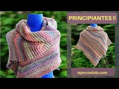 CHAL MÁGICO AZTECA - YouTube Knitted Poncho, Knitted Shawls, Crochet Shawl, Knit Crochet, Prayer Shawl Patterns, Crochet Clothes, Holiday Crafts, Diy Gifts, Knitting