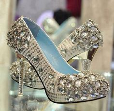 These bling bling shoes so bridal lov em