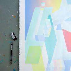 trekmatthews_studio3 Directional Signage, Chicago Artists, Trek, Abstract, Painting, Modern, Summary, Trendy Tree, Painting Art