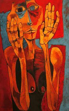 meditación II Oswaldo Guayasamín (1919-1999), ecuatoriano. Es un pintor expresionista. Su obra se introduce en los más hondo de los problemas del hombre y las sociedades. Las guerras, la violencia, el desamparo, el dolor, las angustias, las injusticias sociales, atraviesan toda su obra, penetrante y con lenguaje propio