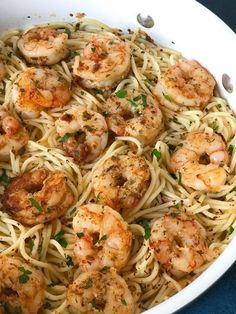 Garlic Parmesan Shrimp Spaghetti - Cookin' with Mima pasta rezept healthy pasta recipes Fish Recipes, Seafood Recipes, Cooking Recipes, Healthy Recipes, Cooking Tips, Dinner Recipes, Shrimp Pasta Recipes, Bread Recipes, Holiday Recipes