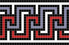 Examples of Greek Key Roman mosaics