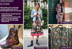 #Trendstop FW 17-18 Womens trends on #WeConnectFashion. Directional Prints: Heightened Blooms trend theme