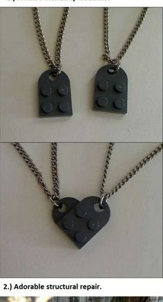 Make a heart friendship necklace out of legos