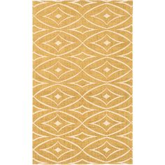 Add a chic focal point to your foyer, den, or master suite with this lovely jute rug, featuring a diamond trellis motif in gold.  Pr...