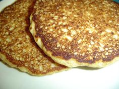 South Beach Oatmeal Pancake. These are amazing!!!!! I also added a banana to the mixture and then topped them with sliced bananas and sf syrup. 4 pts. per serving.