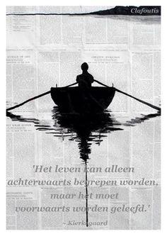 'Het leven kan alleen achterwaarts begrepen worden, maar het moet voorwaarts worden geleefd.'  ~ Kierkegaard  (Image 'A simple plan' - Loui Jover)
