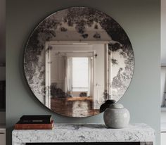 Antique mirror with dark lowlights. This wall mirror is perfect for providing and interesting, dynamic light bounce.  You can order a swatch of