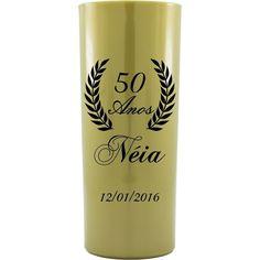 Copo Acrílico Personalizado Aniversário 50 Anos Dourado - ArtePress | Brindes, Canecas, Copos de Acrílico Personalizado