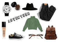 """ADVENTURE"" by queenstone on Polyvore featuring mode, Levi's, Yves Saint Laurent, Converse, Rosendahl et Lancôme"