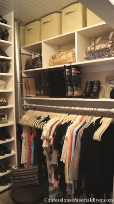 10 Steps to a Better Closet - lots of photos & ideas!