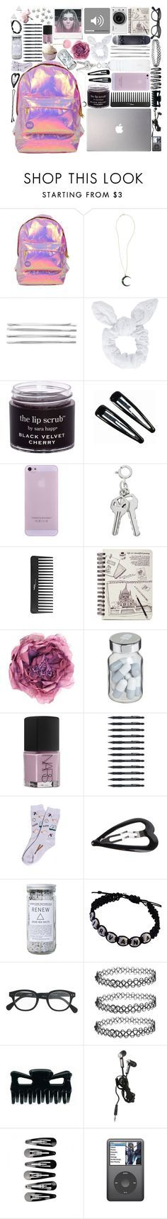 """What Is In My Backpack"" by marie-anderson-i ❤ liked on Polyvore featuring Miss Selfridge, Andrea Fohrman, Cara, Topshop, Polaroid, Clips, Samsung, Sephora Collection, Nikon and Gucci"