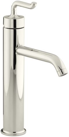 Purist Tall Single-Hole Bathroom Sink Faucet with Smile Design Handle