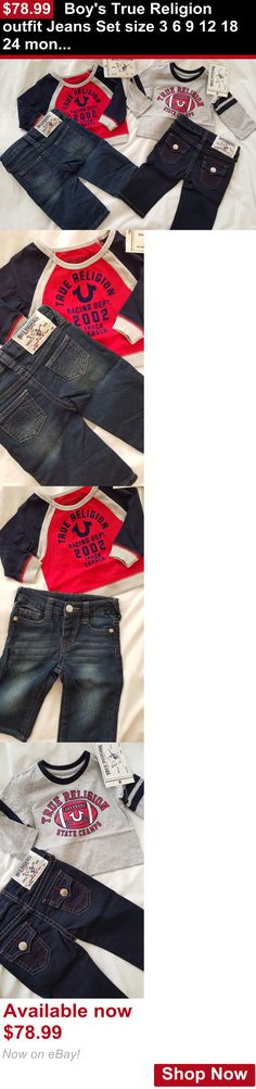 Baby boys clothing shoes and accessories: Boys True Religion Outfit Jeans Set Size 3 6 9 12 18 24 Months Long Sleeve Top BUY IT NOW ONLY: $78.99
