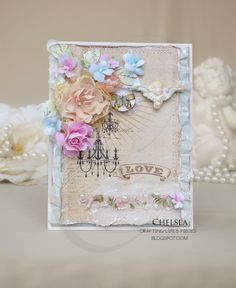 Crafting Life's Pieces: Flowers, butterflies and ruffles - Love card