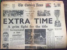 World Cup Teams F-K Final Football Programmes Germany 1966 World Cup Final, World Cup Teams, Football Program, Newspaper, Finals, Germany, England, The Originals, Final Exams