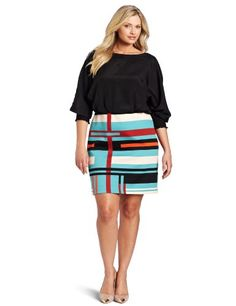 Jessica Simpson Women's Mondrian Stripe Dress « Clothing Impulse