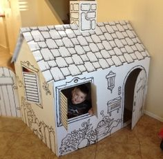 Cardboard Indoor Playhouses for Kids make a great gift and they come in cool designs like a cardboard pirate ship, castle, or playhouse.    My son...