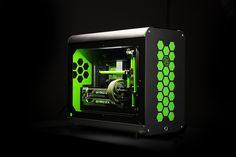 Hex Gear used our Sleeving and tubing when Nvidia GeForce asked them for a show rig. Check out our store at ______ Pc Cases, Newest Macbook Pro, New Macbook, Mac Mini, Computer Case, Gaming Computer, Watercooling Pc, Iphones For Sale, Gaming Pcs