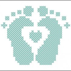 baby feet cross stitch