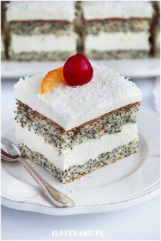 Ciasto makówka - I Love Bake Vanilla Cake, Baking, Food, Bakken, Essen, Meals, Backen, Yemek, Sweets