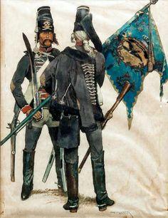 Húsares negros prusianos durante la Guerra de los Siete Años, cortesía de Walter Graf von Looz-Corswarem. http://www.elgrancapitan.org/foro/viewtopic.php?f=21&t=11680&p=941146#p941127