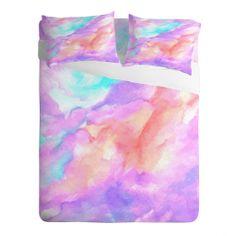 Rosie Brown Lavender Haze Sheet Set | DENY Designs Home Accessories#bed #sheets #bedroom #homedecor #bedding #art #abstract #denydesigns