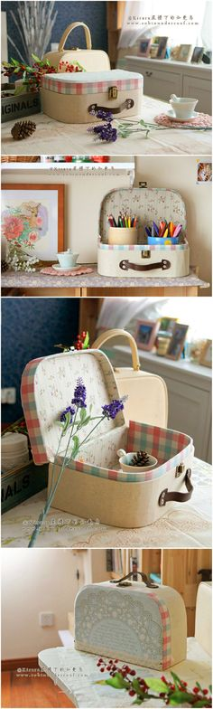 [Handmade cloth box Tutorial] DIY retro suitcase - Amazing tutorial!