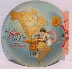 Mechanical Trade Card Singer Sewing Machine Pan American Expo Diorama 1901