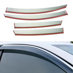 Plastic Window Visors Awnings Rain Sun Deflector Guard Vent Covers Protector 4pcs Car Styling For Toyota C-hr Chr 2018 2019 Complete Range Of Articles Awnings & Shelters