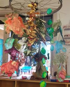 """""""Our chandelier displays children's work in celebration of the world we live in Art For Kids, Kid Art, Classroom Community, Community Building, Classroom Environment, Reggio Emilia, Working With Children, Art Classroom, Childcare"""
