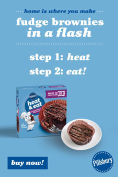 Our new Heat & Eat Fudge Filled Brownies are done in less than 30 seconds. How sweet is that?! Eating After Workout, Fat Head Pizza Crust, Pillsbury Dough, Milk Ingredients, Calorie Calculator, Peruvian Recipes, Fudge Brownies, Weight Loss Meal Plan, Weight Loss Smoothies