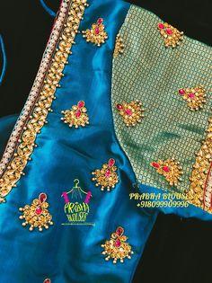 Best Blouse Designs, Simple Blouse Designs, Bridal Blouse Designs, Simple Designs, Zardosi Work Blouse, Pattu Saree Blouse Designs, Simple Embroidery Designs, Mirror Work Blouse, Aari Embroidery