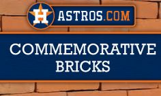 Purchase an engraved brick at Minute Maid Park that will last forever!