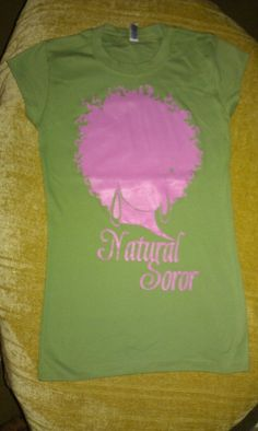 ALPHA KAPPA ALPHA Natural Soror Shirt by AuNaturelDiva on Etsy, $24.00
