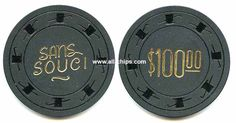 #LasVegasCasinoChip of the Day is a $100 Sans Souci 2nd issue you can get here https://www.all-chips.com/ChipDetail.php?ChipID=19431 #CasinoChip #LasVegas
