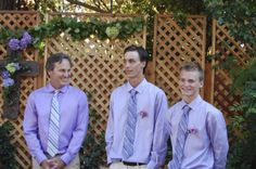 Waiting for the bride with two of his sons