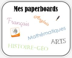 Tous mes paperboards - Activinspire Cycle 3, France, Education, School, Distance, Piano, Blog, Classroom Management, Classroom