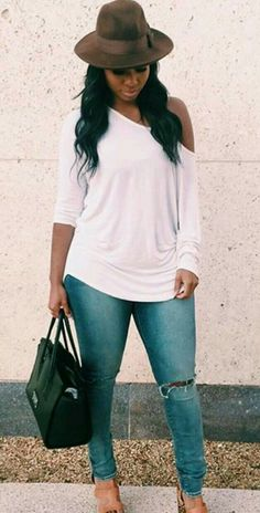 the very best casual outfit a fashionista should have in her closet at the moment Curvy Fashion, Look Fashion, Plus Size Fashion, Girl Fashion, Fashion Outfits, Womens Fashion, Fashion 2018, Ladies Fashion, Hijab Fashion
