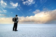 Man on ice Royalty Free Stock Photo
